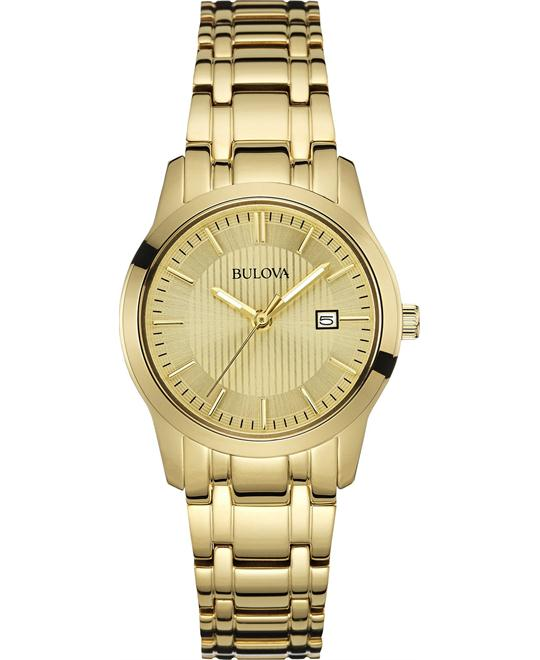 Bulova Women's Gold-Tone Stainless Watch 30mm