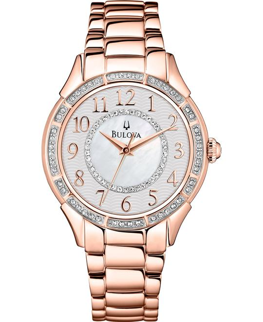 Bulova Women's Rose Gold-Tone Watch 33mm