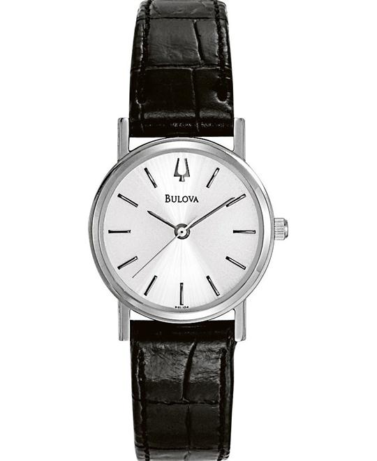 Bulova Women's Silver Dial Watch 25 MM