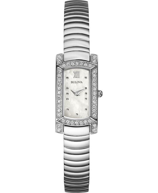 Bulova Women's Stainless Steel Bracelet Watch 18x15mm
