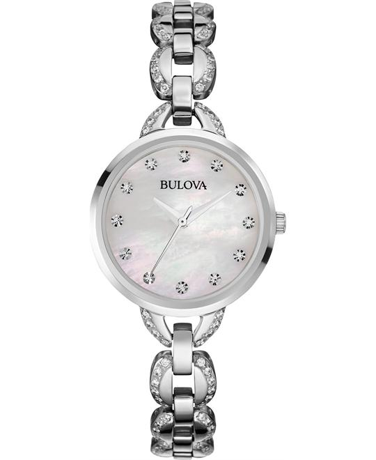 Bulova Women's Facets Crystal Sliver- Tone Watch 28mm