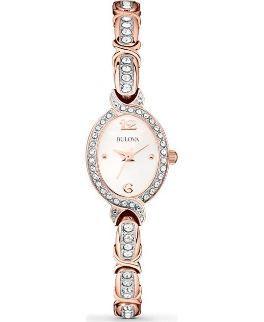 Bulova Women's Swarovski Crystal-Accented Watch 17mm