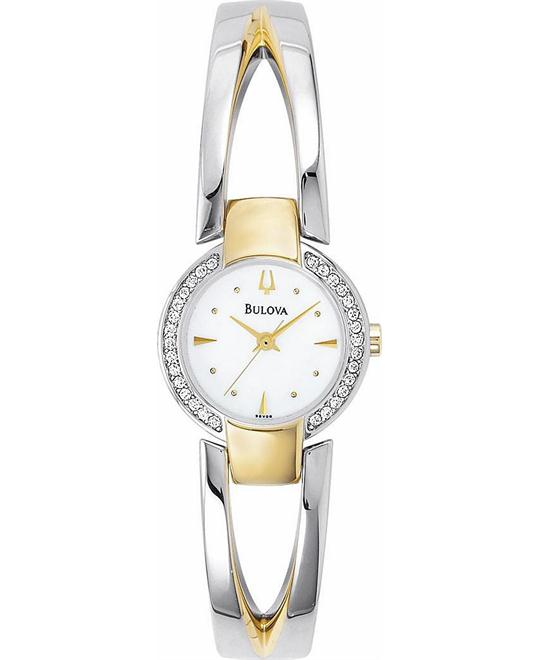 Bulova Women's Two Tone Bangle Watch 22mm