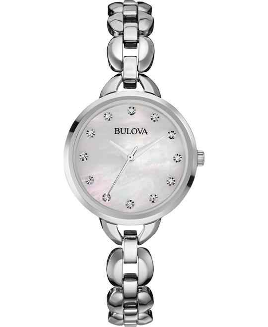 BULOVA WOMEN'S WATCH FACETS COLLECTION WATCH 28MM