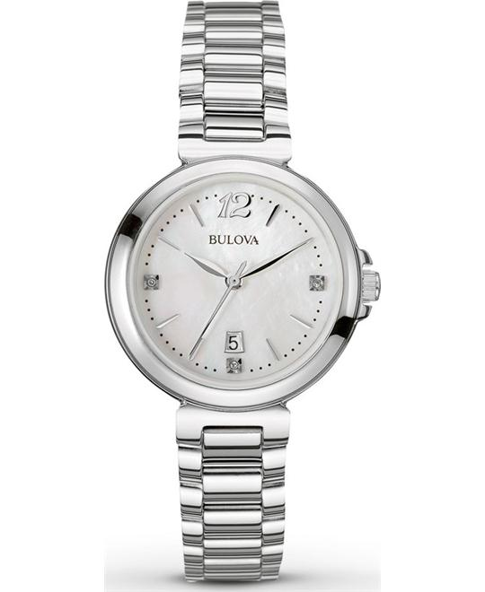 Bulova Women's  Diamond Gallery White Watch 30mm