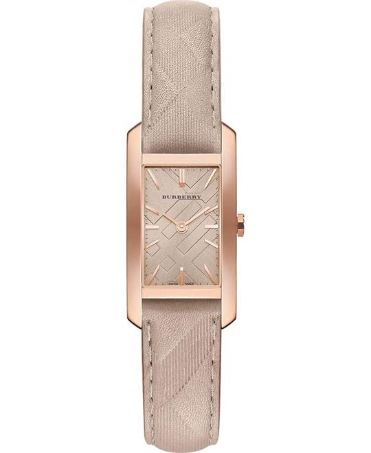 Burberry Beige Calfskin Synthetic Sapphire Women's Watch 20mm