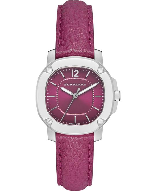 Burberry Britain Magenta Leather Quartz Watch 33mm