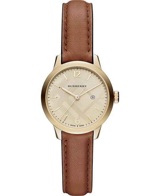BURBERRY Champagne Leather Ladies Watch 32mm