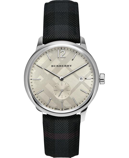 Burberry Check Stamped Round Watch 40mm