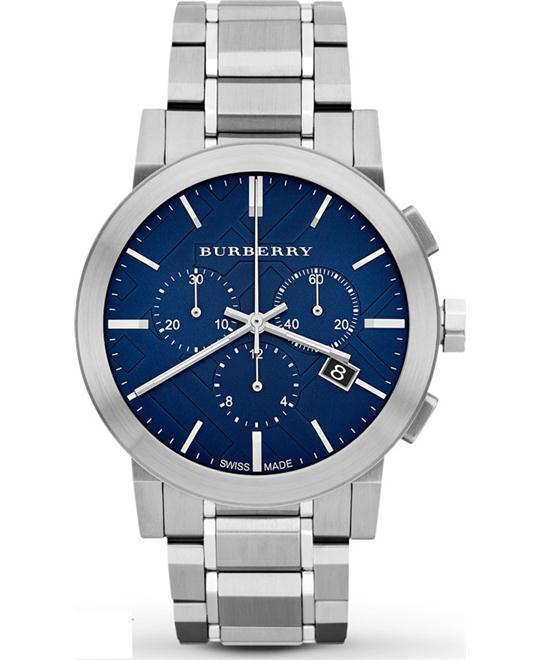 BURBERRY Chronograph Blue Men's Watch 42mm
