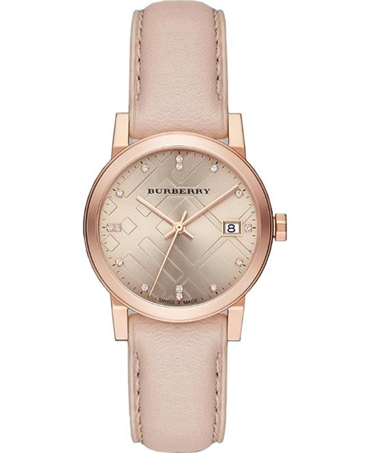 BURBERRY CITY DIAMOND ROSE GOLD S WATCH 34MM