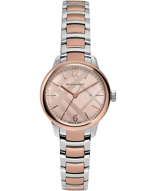 Burberry Classic Swiss Round Stainless Steel Watch 32mm