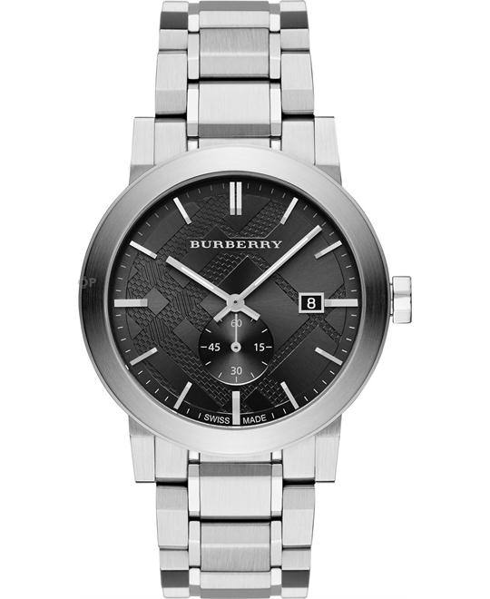 BURBERRY Dark Grey Dial Stainless Steel Men's Watch 42mm