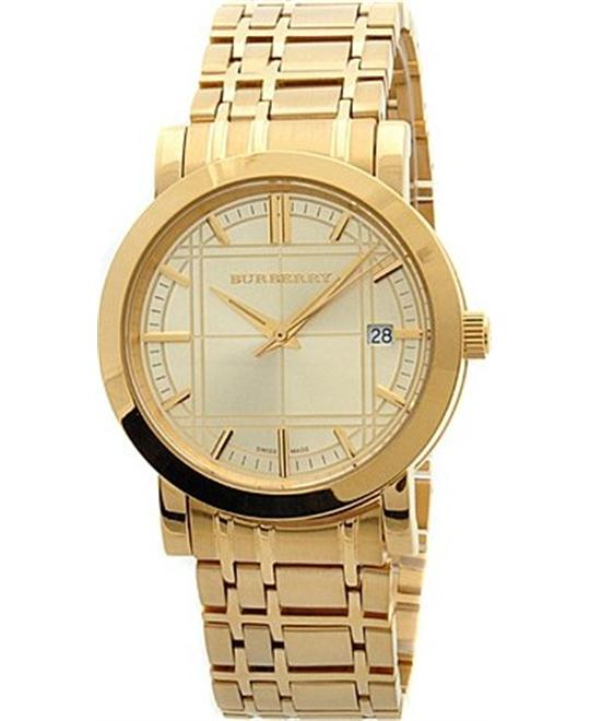 Burberry Heritage Gold Stainless Steel Watch 38mm