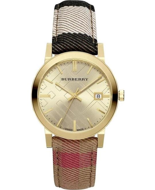 Burberry Housecheck Fabric Strap Watch 38mm
