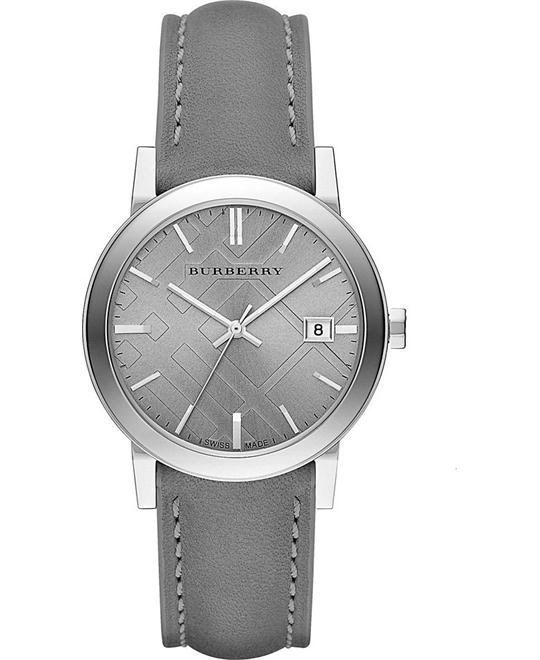 Burberry Light Grey Dial Grey Unisex Watch 38mm