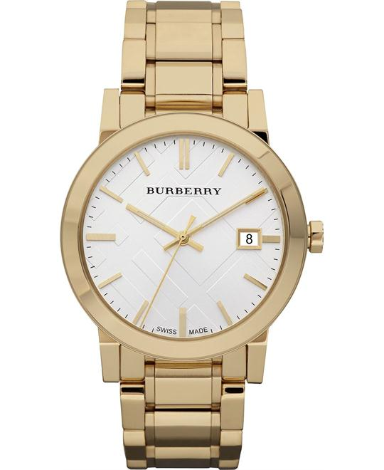 Burberry The City Men's Swiss Gold Stainless Watch 38mm