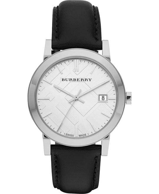 Burberry The City Men's Swiss Leather Strap 38mm