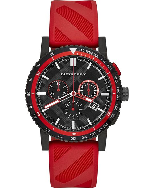 Burberry The City Men's Chronograph Rubber Watch 42mm