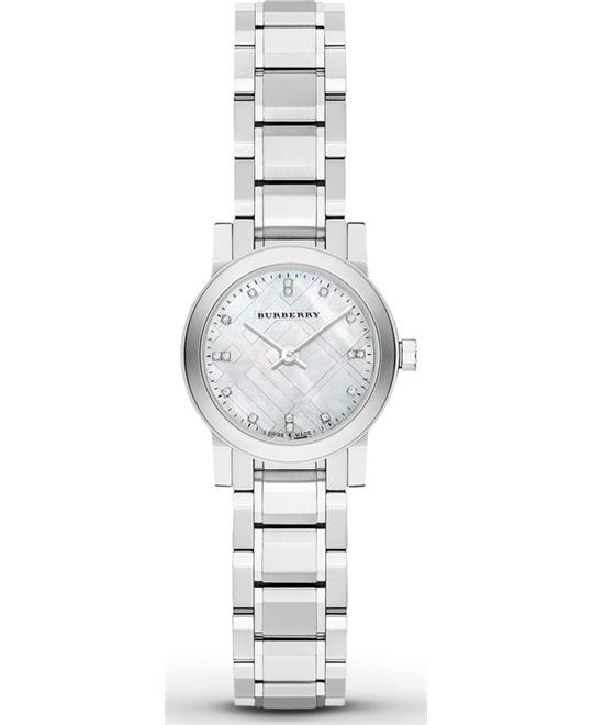 Burberry Mother of Pear Diamond Set Watch 26mm