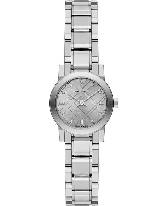 BURBERRY New Classic Silver Ladies Watch 26mm