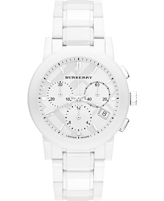 Burberry The City Chronograph Ceramic Bracelet Watch 38mm
