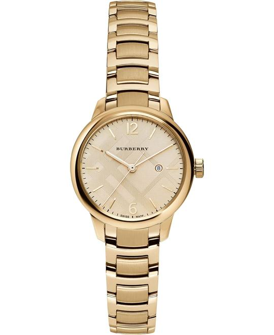Burberry The Classic Swiss Gold-Tone Watch 32mm