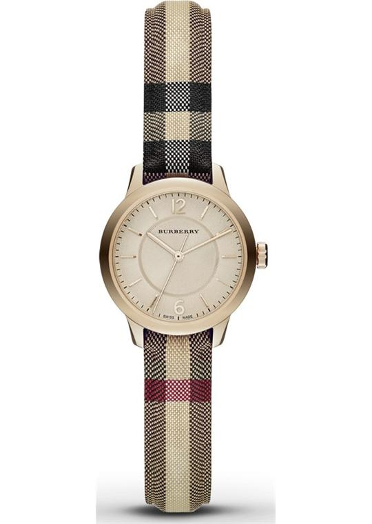 Burberry Swiss Honey Check Fabric BU10201 Watch 26mm