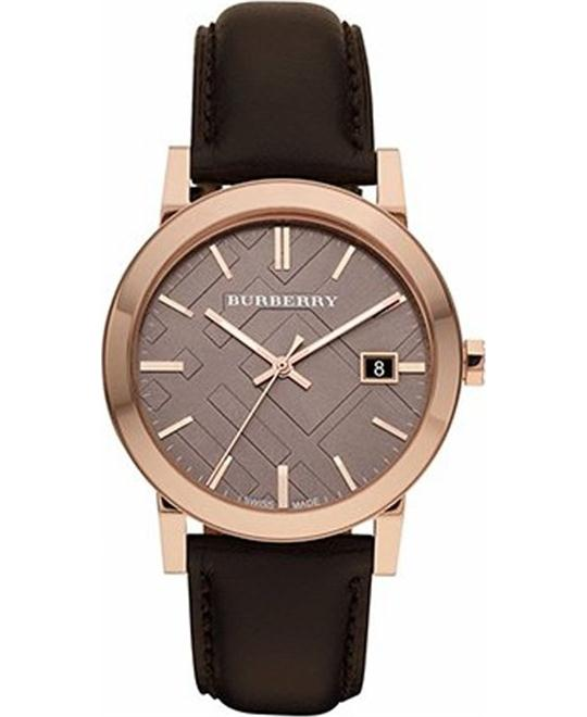 Burberry Taupe Check Pattern Watch 38mm