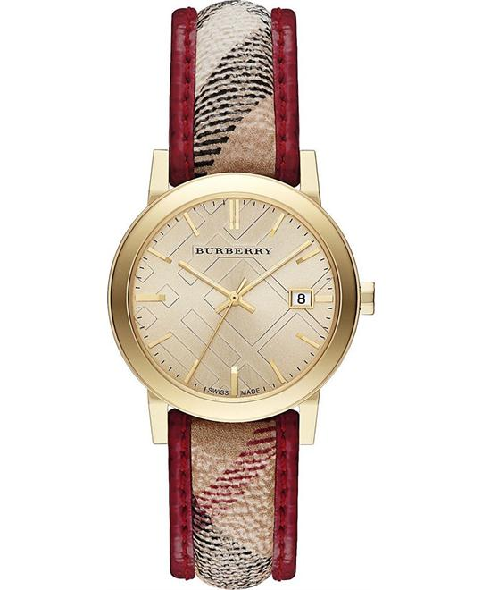 Burberry Textile Quartz Ladies Watch 34mm