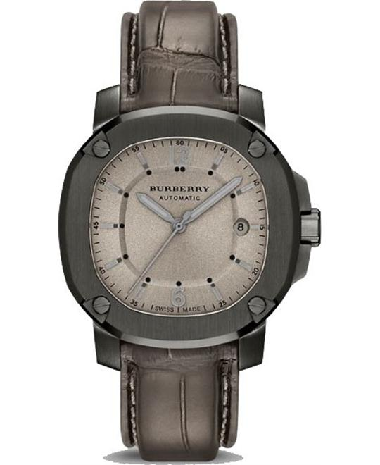 Burberry The Britain Grey Dial Automatic Mens Watch 43mm