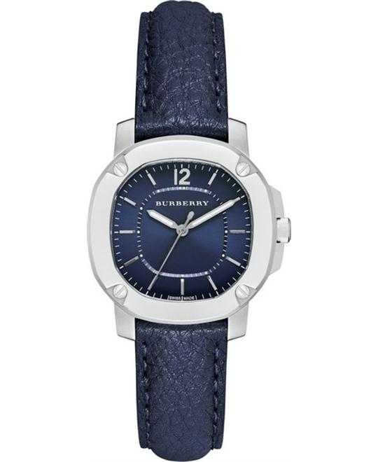 Burberry The Britain Leather Strap Navy Watch 34mm