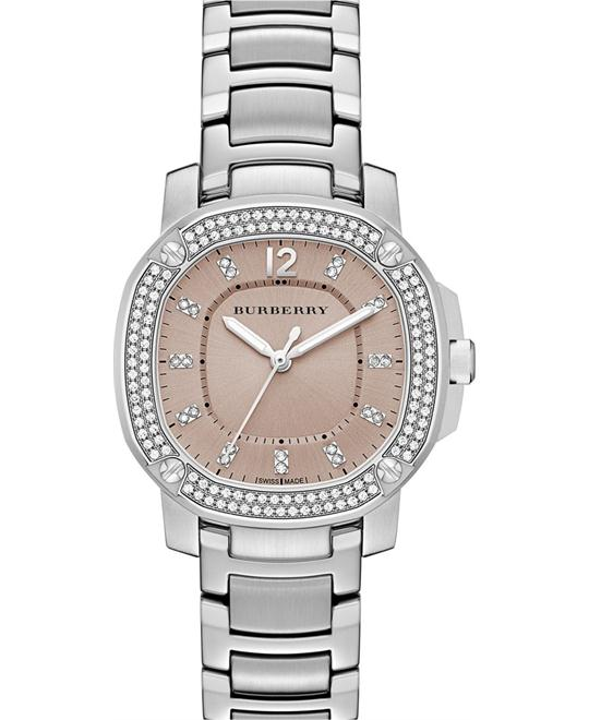 Burberry The Britain Stainless & Diamond Watch 34mm