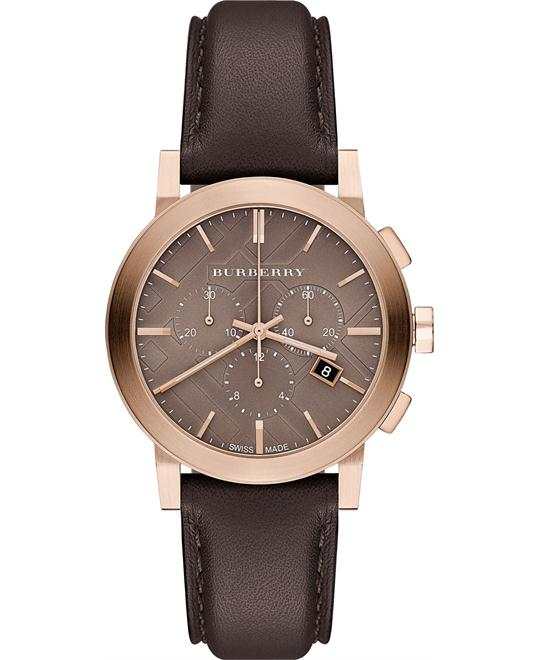 Burberry The City Chocolate Unisex Watch 38mm
