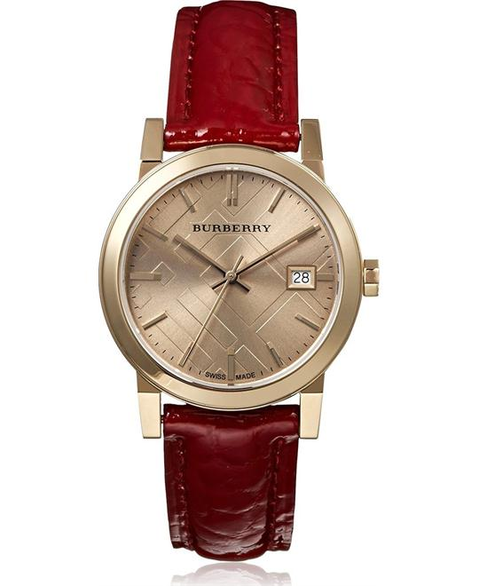 Burberry the City Gold Plated Red Women Watch 34mm