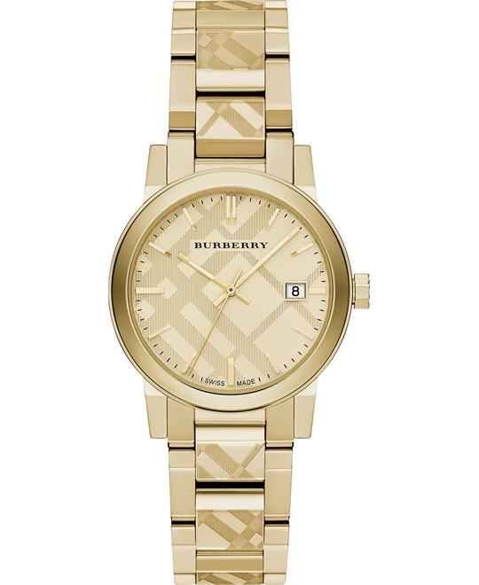 Burberry The City Gold-Tone Ladies Watch 34mm