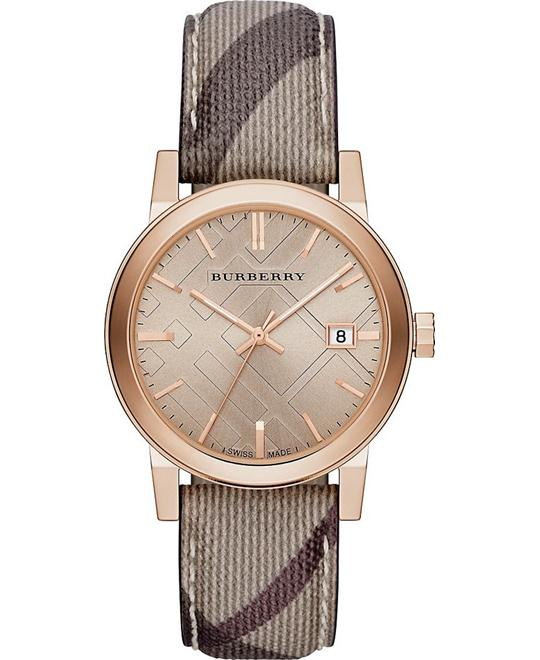 BURBERRY THE CITY ROSE GOLD FACE Unisex Watch 38mm
