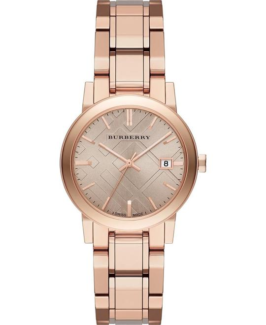 Burberry The City Rose Gold Ladies Watch 34mm
