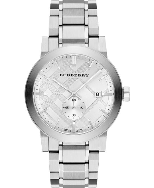 BURBERRY The City Silver Men's Watch 42mm