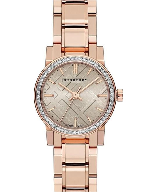 Burberry The City Women's Swiss Diamond Watch 26mm