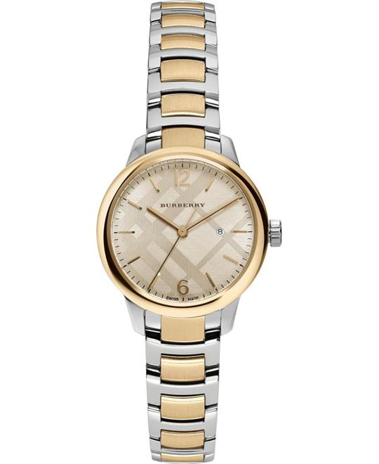 Burberry The Classic Round TwoTone Womens Watch 32mm