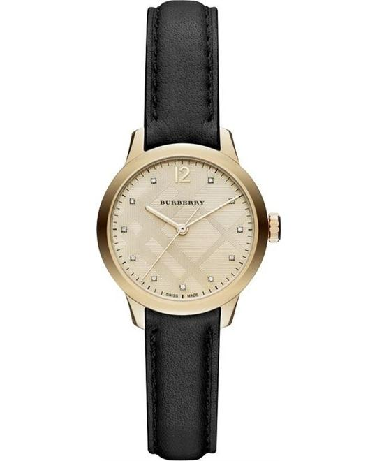 BURBERRY The Classic Round Diamond WATCH 32MM