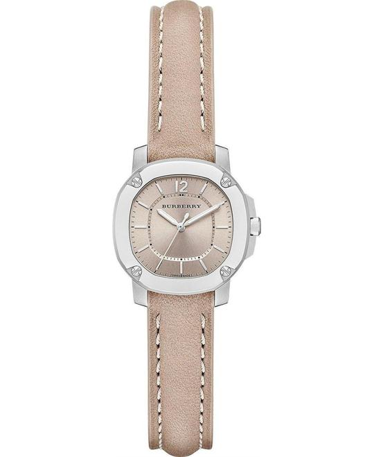 Burberry Unisex Swiss Britain Trench Leather Strap Watch 26mm