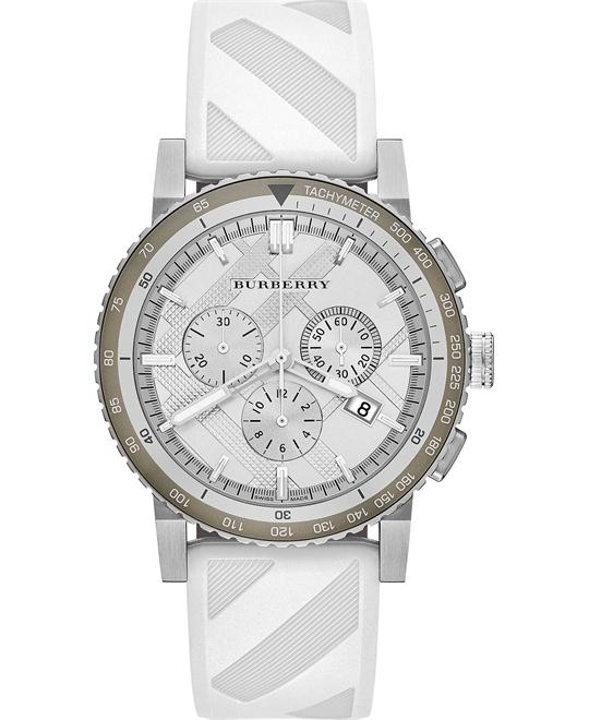 Burberry The City Unisex Chronograph Rubber Watch 42mm