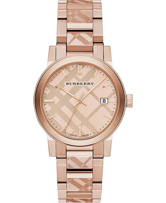 Burberry The City Swiss Rose Gold Watch 38mm
