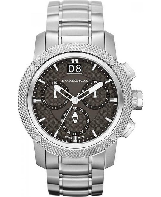 Burberry Utilitarian MensStainless Steel Watch 45mm