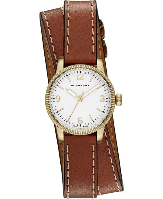 BURBERRY Utilitarian White Dial Watch 30mm