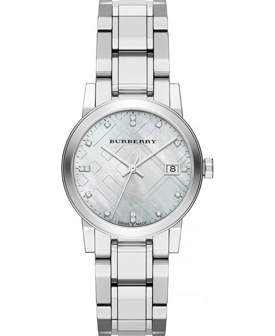 Burberry Women's Swiss Diamond Bracelet Watch 34mm