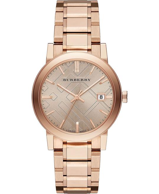 Burberry The City Rose Gold Unisex Watch 38mm