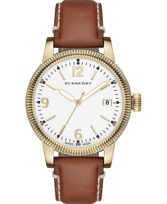 Burberry The Utilitarian Women's Swiss Leather Watch 38mm